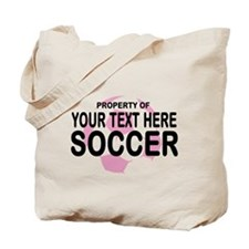 Prop Your Text Soccer Tote Bag
