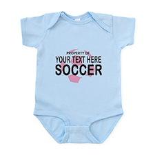 Prop Your Text Soccer Infant Bodysuit