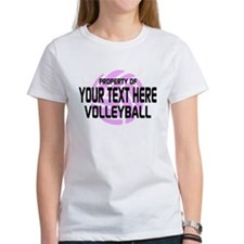 Property of Your Team Volleyball Tee