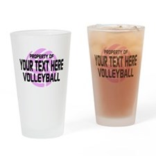 Property of Your Team Volleyball Drinking Glass