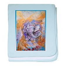 Elephant, wildlife art! baby blanket