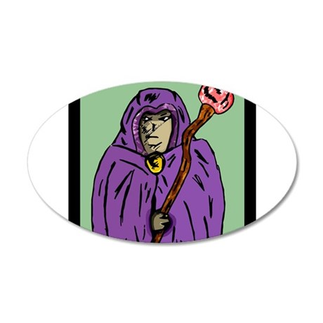 wizard_mage_goldndungeons 35x21 Oval Wall Decal