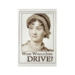 Jane Austen DRIVE Rectangle Magnet