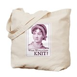 Jane Austen KNIT Tote Bag