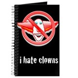 I Hate Clowns Writing Journal