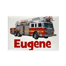 EUGENE - FIRE TRUCK - CUSTOM NAME Rectangle Magnet
