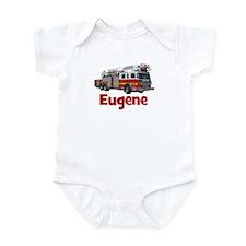 EUGENE - FIRE TRUCK - CUSTOM NAME Infant Bodysuit