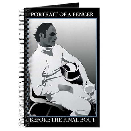 Portrait of a Fencer Blank Journal