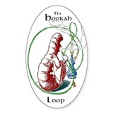 Hookah Smoking Caterpillar Oval Decal