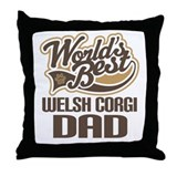 Welsh Corgi Dad Throw Pillow
