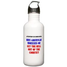 Hire American Workers Water Bottle