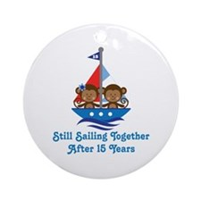 15th Anniversary Sailing Ornament (Round)