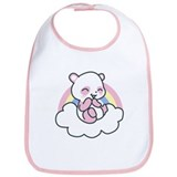 Pink Happy Panda Bib