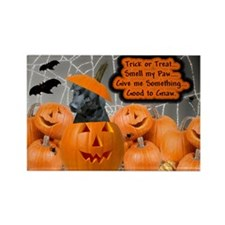 Black Lab Halloween Rectangle Magnet (100 pack)