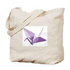 Lucky origami crane purple Tote Bag
