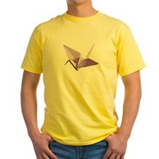 Lucky origami crane purple T