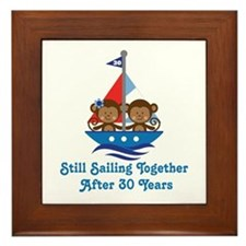 30th Anniversary Sailing Framed Tile