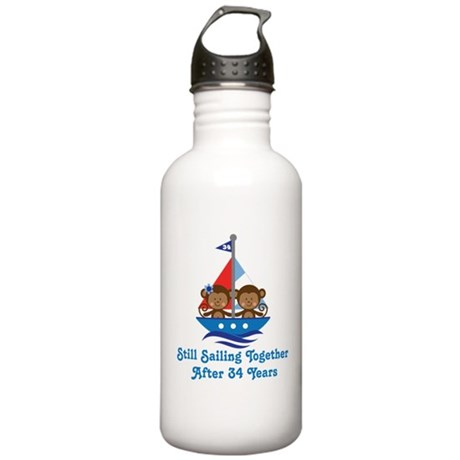 34th Anniversary Sailing Stainless Water Bottle 1.