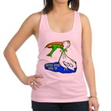 wht_Frog_Choking_Bird.png Racerback Tank Top
