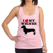 Wht_I_Heart_My_Weiner_Dog.png Racerback Tank Top