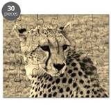 sepia scopey cheetah kenya collection Puzzle