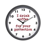 Protection by coffee Wall Clock