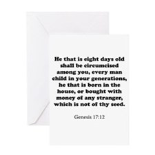 Genesis 17:12 Greeting Card