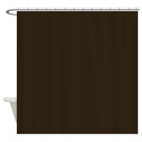 Dark Brown Shower Curtain By Poptopia1
