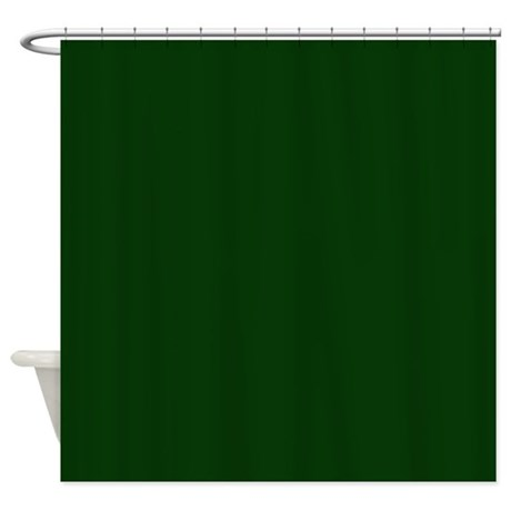 Dark Green Shower Curtain White Shower Curtain