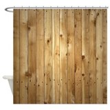 Wood Fence Shower Curtain