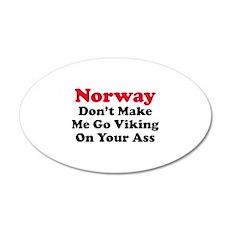 Norway Viking 22x14 Oval Wall Peel