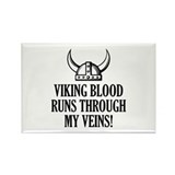 Viking Blood Runs Through My Veins! Rectangle Magn