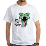 Snake My Seat White T-Shirt
