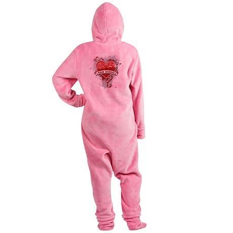 Heart San Diego Footed Pajamas