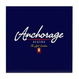 Anchorage Script Tile Coaster