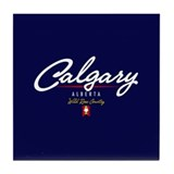 Calgary Script Tile Coaster