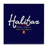 Halifax Script Tile Coaster
