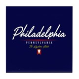 Philadelphia Script Tile Coaster