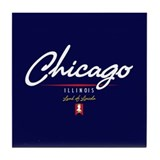 Chicago Script Tile Coaster