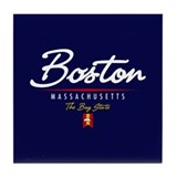 Boston Script Tile Coaster
