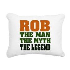 Rob the Legend Rectangular Canvas Pillow