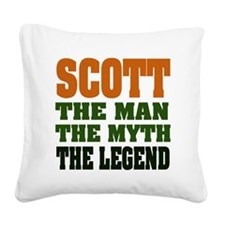 Scott The Legend Square Canvas Pillow