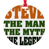 Steve The Legend Round Ornament