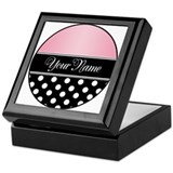 Black Polka Dot Pink Keepsake Box