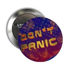 3D Don't Panic Hitchhikers Space Button