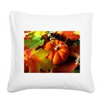 .elements of autumn. Square Canvas Pillow