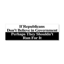 Anti-Republican Bumper Sticker Car Magnet 10 x 3