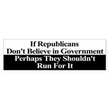 Anti-Republican Bumper Sticker Bumper Sticker