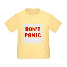 DONT PANIC Toddler Tshirts blue/white/pink