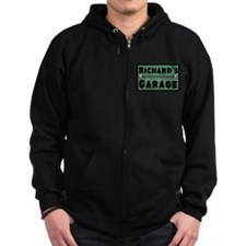 Personalized Garage Zip Hoodie